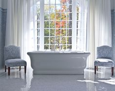 Freestanding bathtub. Simple and elegant. Via http://www.houzz.com/photos/1417450/-1--Manor-Residence-traditional-bathroom-charlotte
