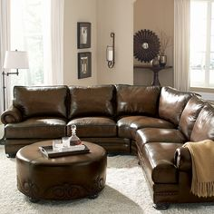 Leather Sectionals Are So Practical. They Fit My Space Perfectly And Create  A Very Inviting Space.