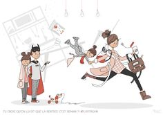 Mad'moiselle C #playagain  illustratrice, agence Marie Bastille // cette image appartient à son auteur et/ou l'agence Marie Bastille + d'infos sur le site // Le Site, Bastille, Illustration, Marie, Illustrations