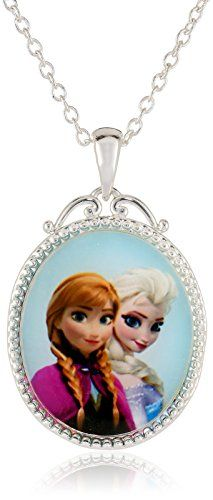 "Disney Girls' ""Frozen"" Silver-Plated Anna and Elsa Pendant Necklace, 18"" Disney http://www.amazon.com/dp/B00KA62STA/ref=cm_sw_r_pi_dp_8-LCub1VB3NMT"