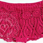 Pineapple Lace Bikini Shorts - via @Craftsy