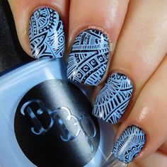 Bad Bitch Polish - Bluestar - light blue creme stamping polish. #prsample #badbitchpolish #stampingpolish #indiestampingpolish #nails #nailart