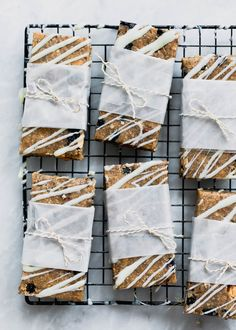 No Bake Blueberry Almond Breakfast Bars