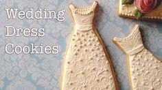 How To Decorate Wedding Dress Cookies! ~ SweetAmbs