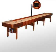 20' Cognac Finish Prestige Shuffleboard Table #McClureTables