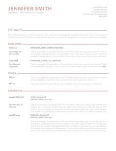 Elegant Resume Template 110900 Best Creative Design Make It Yourself Pdf