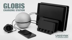 Globis: The beautiful, powerful and safe multi-charging station.