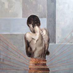 "Saatchi Art Artist Nadia Rapti; Painting, ""Sunshine Chains"" #art"