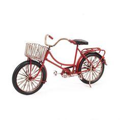 Miniatura Bicicleta com Cestinha