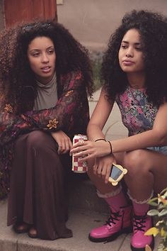 girls w/curls #naturalhair  Follow BHI on Facebook & Twitter too!   http://www.facebook.com/blackhairinformation  https://twitter.com/#!/BlackHairInfo