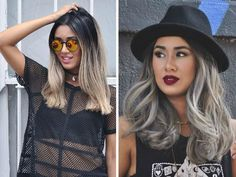 20 Glamorous Ash Blonde and Silver Ombre Frisuren Blonde Pixie, Ash Blonde Ombre Hair, Ombre Bob Hair, Silver Ombre Hair, Blonde Color, Dark Hair, Hair Looks, Hair Lengths, New Hair
