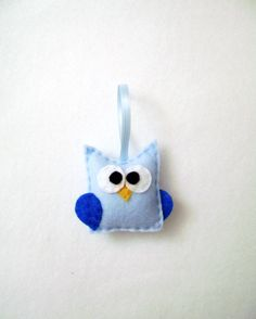 Felt Christmas Ornament - Clara the Blue Baby Owl. $9.00, via Etsy.