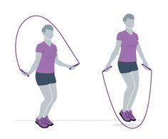 Seilspringen Bounce-Step
