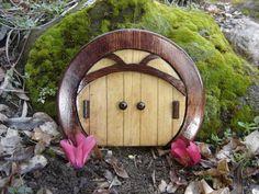 Fairy Door, Gnome Door, Hobbit Door, Elf Door, Troll Door, Miniature Garden Round Sun Style Door. on Etsy, $17.95
