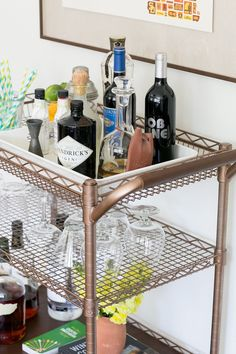 DIY // Bar Cart Transformation - The Effortless Chic - A lifestyle blog bringing easy ideas for every day style to you, every day of the week!