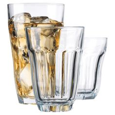 18-piece+drinking+glass+set+in+assorted+sizes.  Product:+6+Small+glasses,+6+medium+glasses+and+6+large+glasses  Constructi...