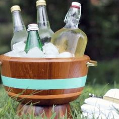 Make an ice bucket from two bowls.