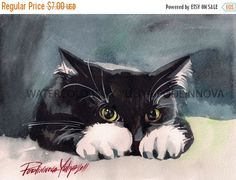 Limited time 40% off Tuxedo Cat Digital Print by creativeartistic