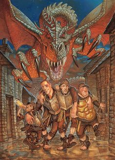 Terry Pratchett's Discworld Being Adapted To Crime-Of-The-Week Mystery TV Series Mystery Tv Series, Terry Pratchett Discworld, St Georges Day, Fantasy City, Fantasy Inspiration, Sign Printing, Illustrations And Posters, Vivid Colors, Illustrators