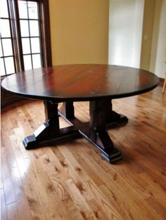 Unique, One Of A Kind Round Table Crafted By Rustic Elements Furniture!  Contact Us