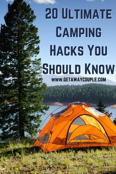 If you want the best, most relaxing camping getaway, you need the right tools. These 20 ultimate camping hacks will make your experience so much better! Camping essentials, camping gear. Tent camping or RV camping, these are some must haves. Best Tents For Camping, Cool Tents, Kayak Camping, Camping Hacks, Backyard Camping, Outdoor Life, Outdoor Fun, Outdoor Gear, Outdoor Travel