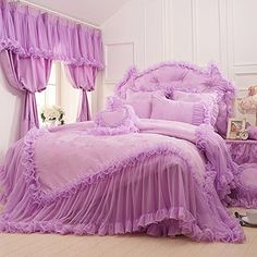 FADFAY Home Textile,Beautiful Korean Bedding Set,Romantic Girls Lace Ruffle Bedding Sets Queen Size FADFAY http://www.amazon.com/dp/B00LIUPMG8/ref=cm_sw_r_pi_dp_DHO.ub1Z3FBQR