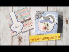 Bo Bunny Butterfly Kisses Envelope Mini Album - ButterBee Scraps Design Team Project - YouTube