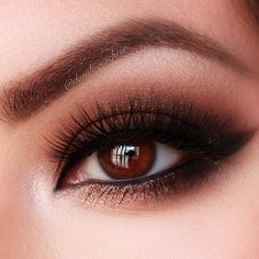 Smokey look for brown eyes