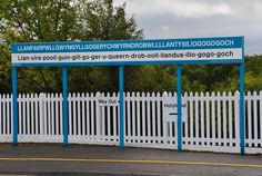 Llanfair­pwllgwyngyll­gogery­chwyrn­drobwll­llan­tysilio­gogo­goch or LlanfairPG, Anglesey, North Wales. It has the longest place name in Europe and one of the longest place names in the world. Weird Town Names, Welsh Language, Tens Place, Le Village, Place Names, Our Lady, Great Britain, Places To See, United Kingdom