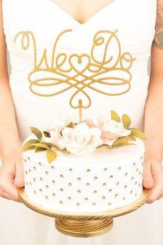 Elegant Wedding Cake Toppers With Script - MODwedding