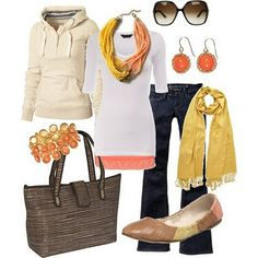 coral and yellow for cooler months