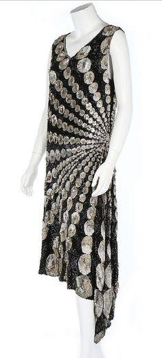 A fine sequined flapper dress