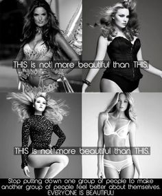 Beauty comes in all shapes and sizes. Being healthy is what matters, regardless of what size that is for you.