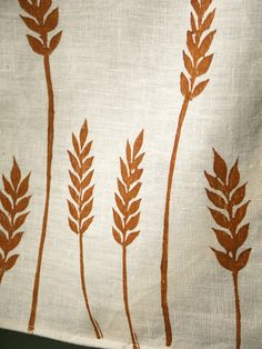 Whole Wheat Linen Tea Towel. $22.00, via Etsy. By Giardino