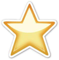 White Medium Star | EmojiStickers.com