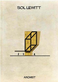 Galeria - ARCHIST: Obras de arte reimaginadas como arquitetura - 91