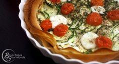 Tarte légère courgette, tomate, mozzarella
