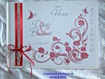 Gästebuch zur Hochzeit,Gästebuch,ROT, 68