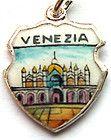 VENEZIA ITALY Venice St Mark Silver Travel Shield Charm