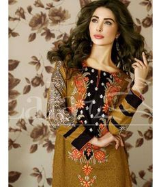 Lala Brocade Embroidered Kurtis Collection 2016 BRK_06