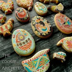 Pysanky Chickens Angle   The Cookie Architect