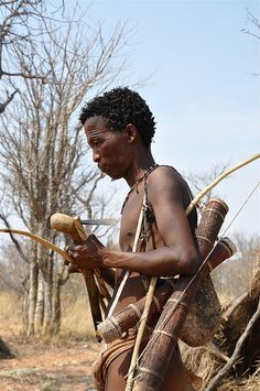 The Bushman Hunter . Namibia
