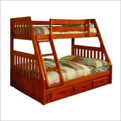 New Energy Honey Mission Twin Over Full Bunk Bed Frame