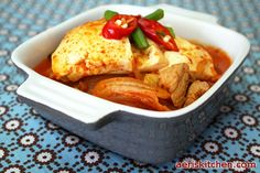 Making this tonight for the first time! Pork Kimchi JjiGae   Aeri's Kitchen   Cooking Korean Recipes  Food