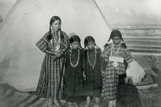 Four young girls stand in front of a tipi, probably in the Bitterroot Valley circa 1900-1905. Photo courtesy of the Montana Memory Project. Park Around, Girl Standing, Montana, Surfing, National Parks, Adventure, Girls, Little Girls, Flathead Lake Montana