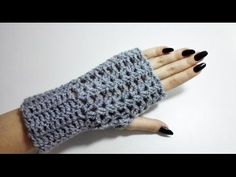 How to Crochet Fingerless Gloves - YouTube