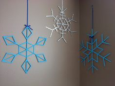 Sew Fantastic: Popsicle Stick Snowflakes