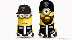 Minions of Anarchy Minion Characters, Fictional Characters, Charlie Hunnam, Sons Of Anarchy, Minions, Skateboard, The Originals, Bags, Wisdom