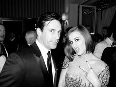 Jon Hamm and Katy Perry @ Vanity Fair Party.  By Terry Richardson