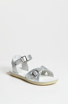 flower girl - in gold or silver - Hoy Shoe 'Sweetheart' Sandal (Walker, Toddler & Little Kid) available at #Nordstrom